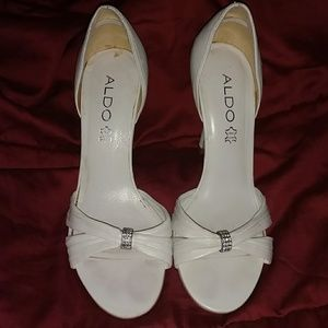 Aldo white high heels